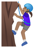 Woman Climbing: Medium Skin Tone on Google Android 10.0