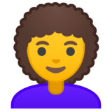 Woman: Curly Hair on Google Android 10.0