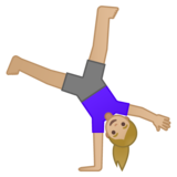 Woman Cartwheeling: Medium-Light Skin Tone on Google Android 10.0