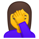 Woman Facepalming on Google Android 10.0