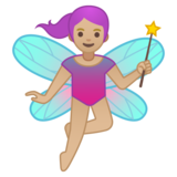 Woman Fairy: Medium-Light Skin Tone on Google Android 10.0