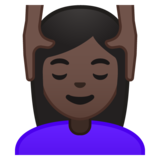 Woman Getting Massage: Dark Skin Tone on Google Android 10.0