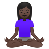 Woman in Lotus Position: Dark Skin Tone on Google Android 10.0