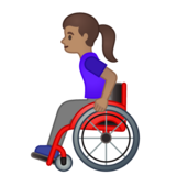 Woman in Manual Wheelchair: Medium Skin Tone on Google Android 10.0