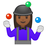 Woman Juggling: Medium-Dark Skin Tone on Google Android 10.0