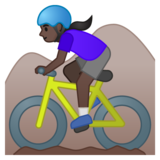 Woman Mountain Biking: Dark Skin Tone on Google Android 10.0