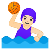 Woman Playing Water Polo: Light Skin Tone on Google Android 10.0