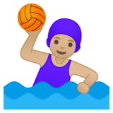 Woman Playing Water Polo: Medium-Light Skin Tone on Google Android 10.0