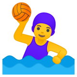 Woman Playing Water Polo on Google Android 10.0