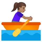 Woman Rowing Boat: Medium Skin Tone on Google Android 10.0