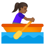 Woman Rowing Boat: Medium-Dark Skin Tone on Google Android 10.0
