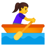 Woman Rowing Boat on Google Android 10.0