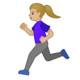 Woman Running: Medium-Light Skin Tone on Google Android 10.0