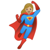 Woman Superhero: Medium-Light Skin Tone on Google Android 10.0