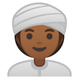 Woman Wearing Turban: Medium-Dark Skin Tone on Google Android 10.0