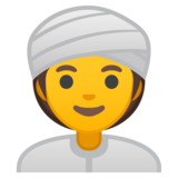 Woman Wearing Turban on Google Android 10.0
