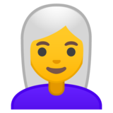 Woman: White Hair on Google Android 10.0