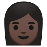 Woman: Dark Skin Tone on Google Android 10.0