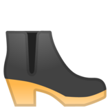 Woman's Boot on Google Android 10.0