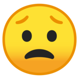 Worried Face on Google Android 10.0