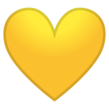 Yellow Heart on Google Android 10.0