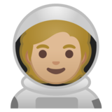 Astronaut: Medium-Light Skin Tone on Google Android 10.0 March 2020 Feature Drop