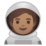 Astronaut: Medium Skin Tone on Google Android 10.0 March 2020 Feature Drop