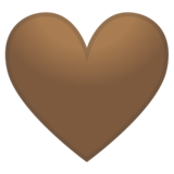 Brown Heart on Google Android 10.0 March 2020 Feature Drop