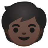 Child: Dark Skin Tone on Google Android 10.0 March 2020 Feature Drop
