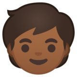 Child: Medium-Dark Skin Tone on Google Android 10.0 March 2020 Feature Drop