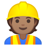 Construction Worker: Medium Skin Tone on Google Android 10.0 March 2020 Feature Drop