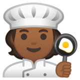 Cook: Medium-Dark Skin Tone on Google Android 10.0 March 2020 Feature Drop