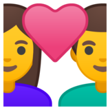 Couple with Heart: Woman, Man on Google Android 10.0 March 2020 Feature Drop