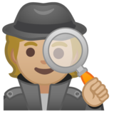 Detective: Medium-Light Skin Tone on Google Android 10.0 March 2020 Feature Drop