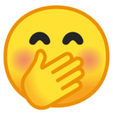 Face with Hand Over Mouth on Google Android 10.0 March 2020 Feature Drop