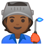 Factory Worker: Medium-Dark Skin Tone on Google Android 10.0 March 2020 Feature Drop