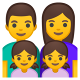 Family: Man, Woman, Girl, Girl on Google Android 10.0 March 2020 Feature Drop