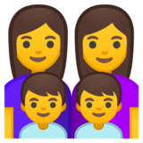 Family: Woman, Woman, Boy, Boy on Google Android 10.0 March 2020 Feature Drop