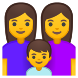Family: Woman, Woman, Boy on Google Android 10.0 March 2020 Feature Drop