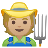 Farmer: Medium-Light Skin Tone on Google Android 10.0 March 2020 Feature Drop