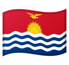 Flag: Kiribati on Google Android 10.0 March 2020 Feature Drop