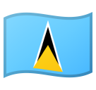 Flag: St. Lucia on Google Android 10.0 March 2020 Feature Drop