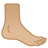 Foot: Medium-Light Skin Tone on Google Android 10.0 March 2020 Feature Drop