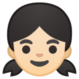 Girl: Light Skin Tone on Google Android 10.0 March 2020 Feature Drop