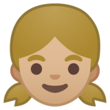 Girl: Medium-Light Skin Tone on Google Android 10.0 March 2020 Feature Drop