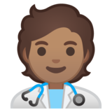 Health Worker: Medium Skin Tone on Google Android 10.0 March 2020 Feature Drop