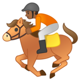 Horse Racing: Medium-Dark Skin Tone on Google Android 10.0 March 2020 Feature Drop