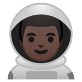 Man Astronaut: Dark Skin Tone on Google Android 10.0 March 2020 Feature Drop