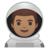 Man Astronaut: Medium Skin Tone on Google Android 10.0 March 2020 Feature Drop