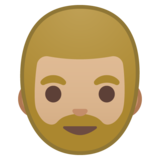 Person: Medium-Light Skin Tone, Beard on Google Android 10.0 March 2020 Feature Drop